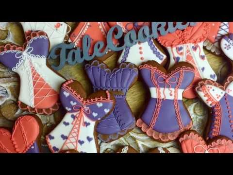 Corset Cookies for Bachelorette Party - by TaleCookies - YouTube