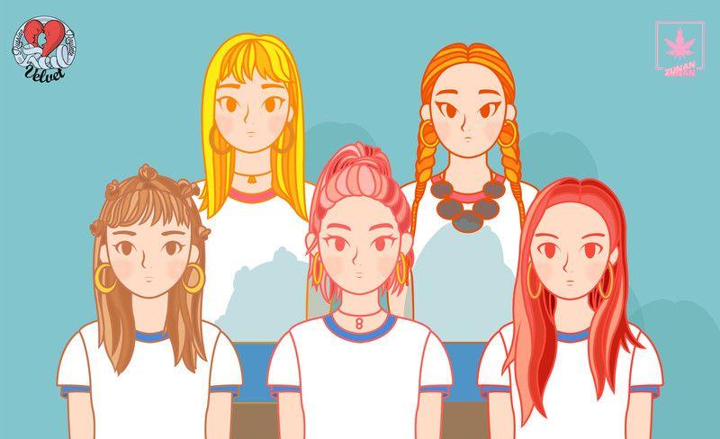 레드벨벳 - 러시안룰렛 - 그래픽 디자인, 일러스트레이션