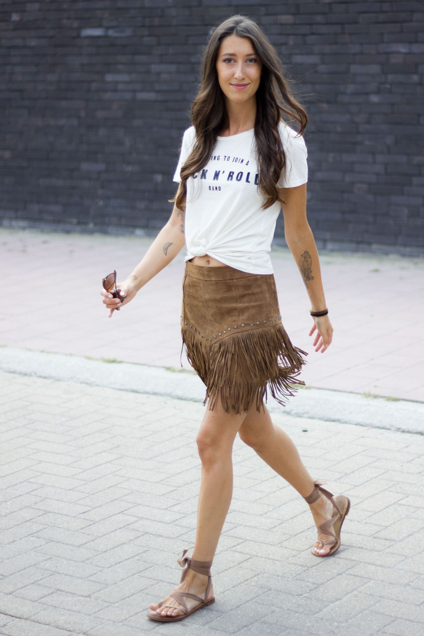 b25794e78e Fringes Skirt Suede Zara   Suede Fringed Skirts   Suede fringe skirt ...