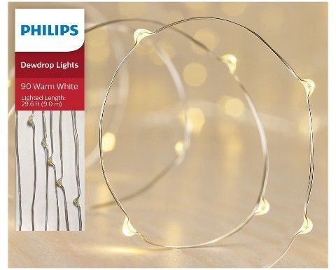 philips 90ct christmas led dewdrop fairy string lights warm white