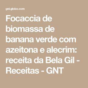 Focaccia De Biomassa De Banana Verde Com Azeitona E Alecrim