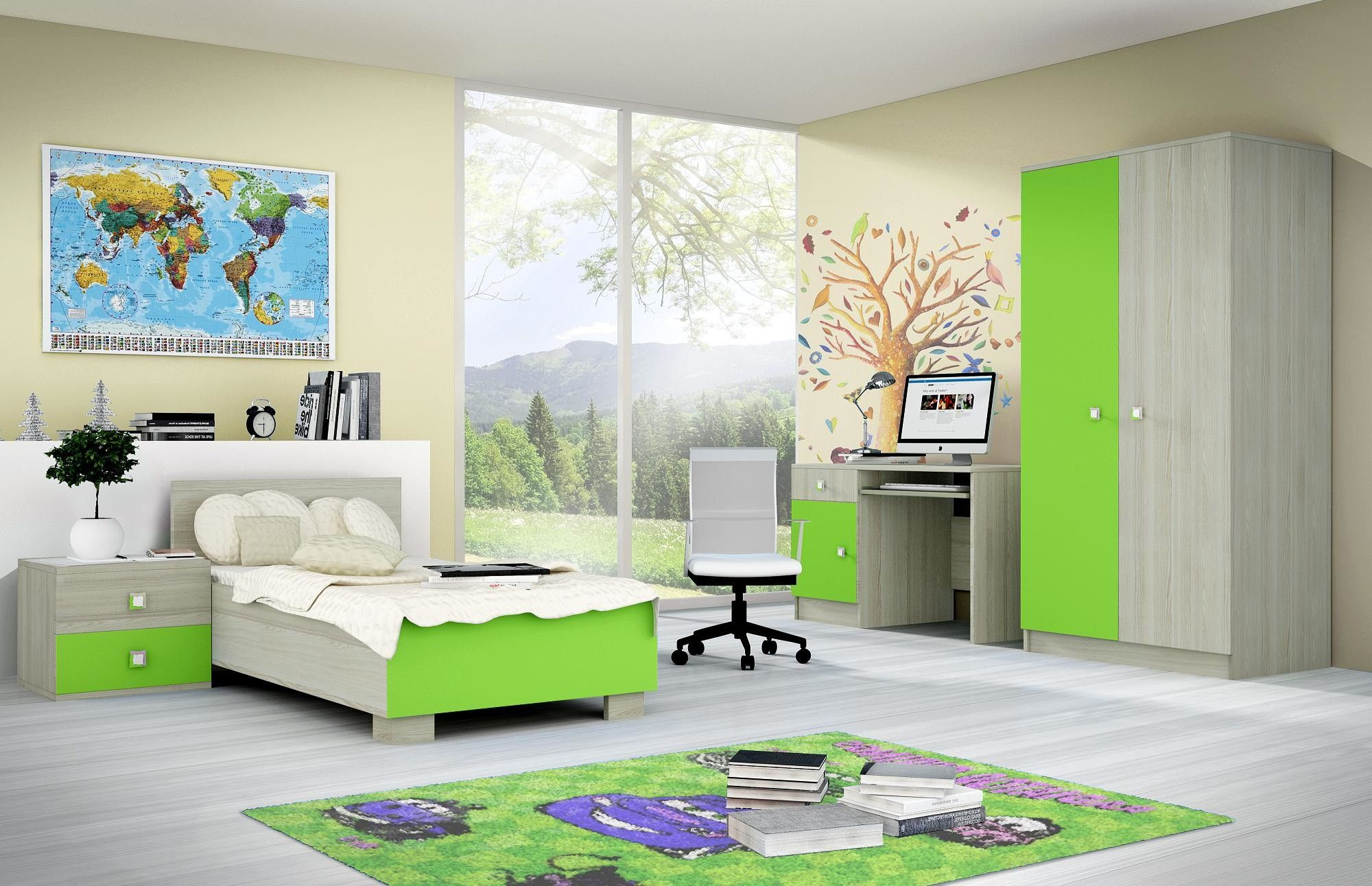 غرف نوم أطفال للمساحات الصغيرة Home Decor Furniture Home