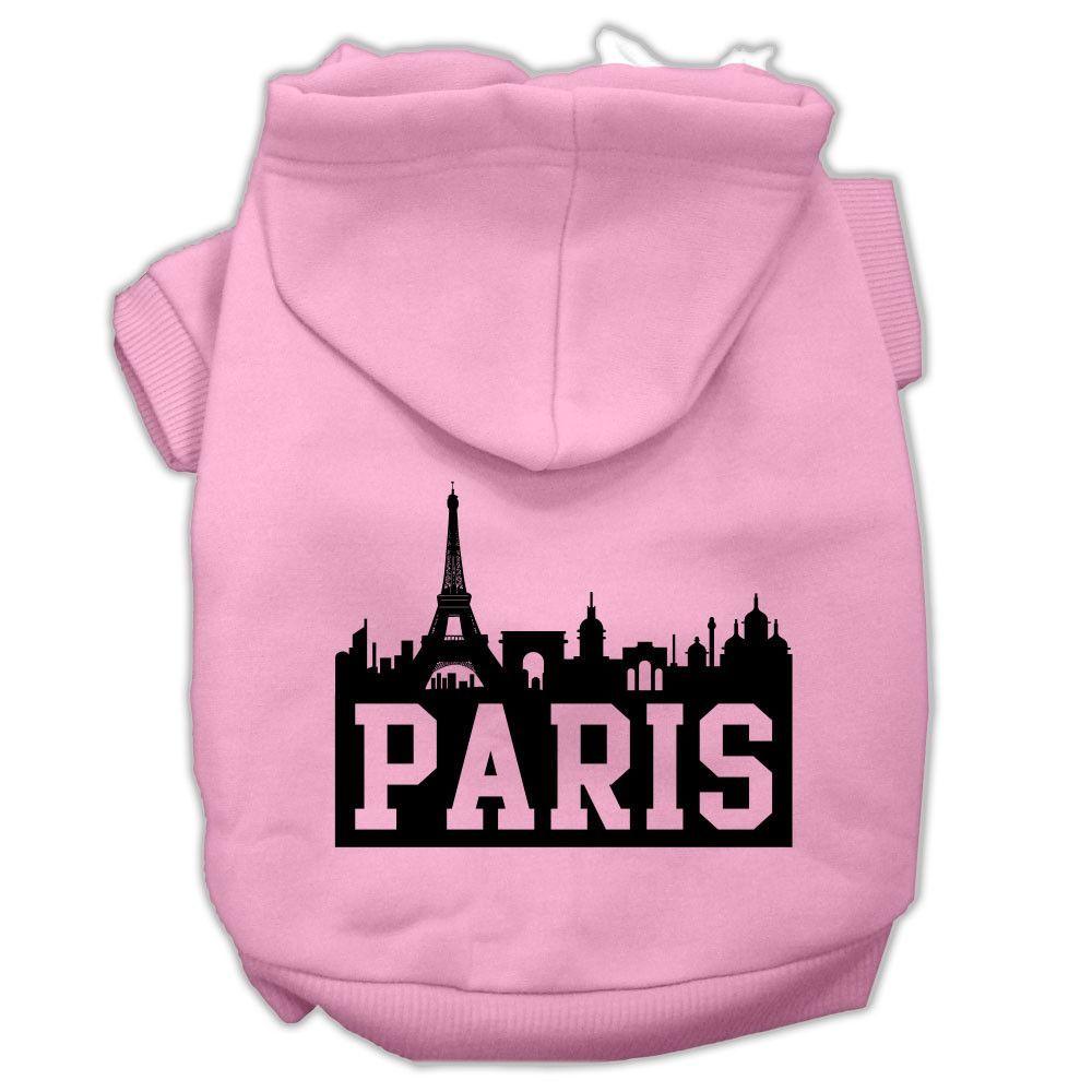 Basic Dog Hoodie (Screen Print) - Skyline of Paris