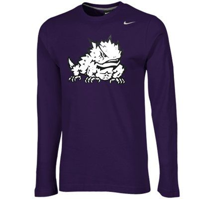 Nike TCU Horned Frogs Thermal Long Sleeve T-Shirt - Purple