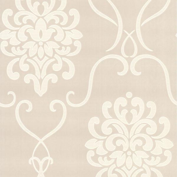 Suzette Taupe Modern Damask Wallpaper is part of Modern Home Accents Texture - A sophisticated damask design, with alluringly mod texture effects in a posh taupe hue