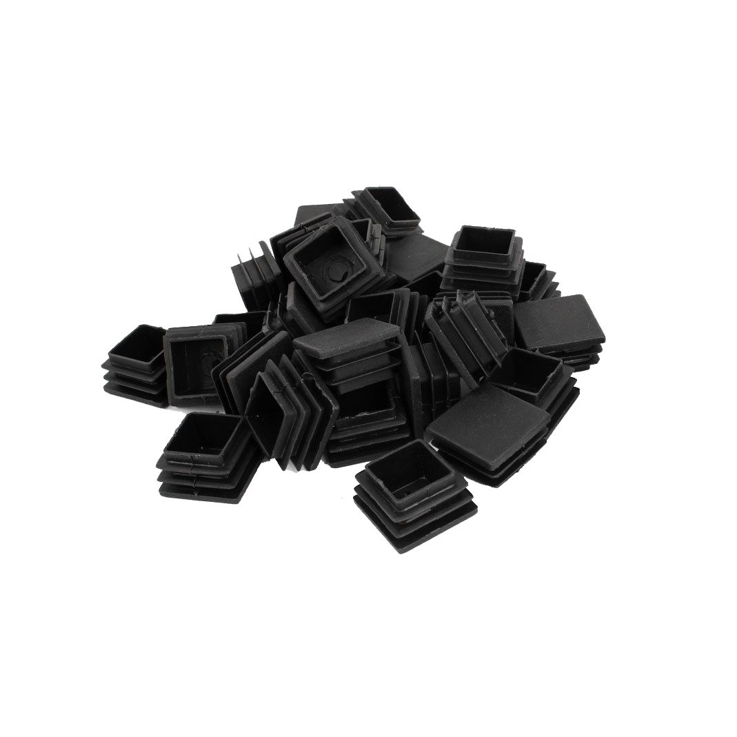 Durable Plastic Square Tube Inserts End Blanking Table Leg Caps Chair Floor  Feet Cap Protector 30mm