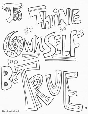 Tothineown Jpg Quote Coloring Pages Inspirational Quotes Coloring Doodle Art