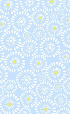 Pastel Blue White Yellow Daisies Floral Circle Pattern Iphone Phone Wallpaper Background Lockscree Blue Aesthetic Pastel Phone Wallpaper Flower Phone Wallpaper