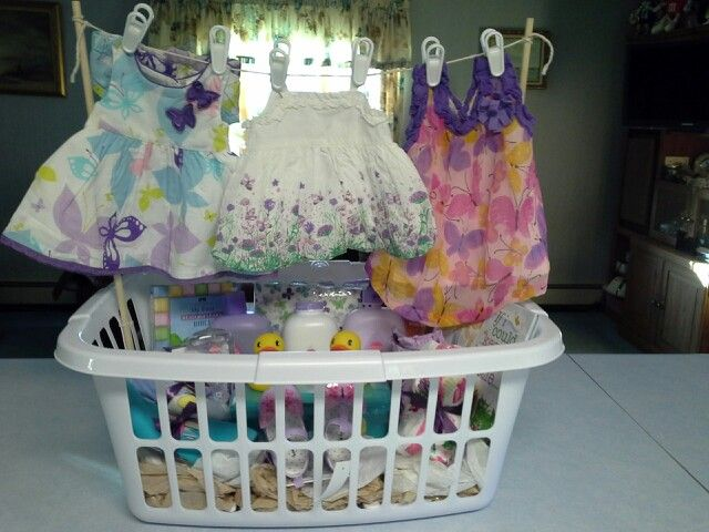 Baby laundry gift basket gift ideas pinterest laundry baby laundry gift basket negle Image collections