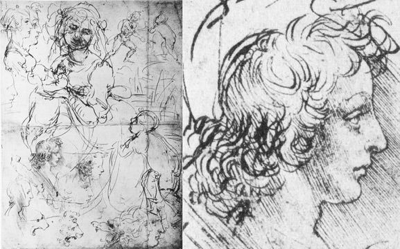 Leonardo Da Vinci Resume Leonardo Da Vinci Studies Of Madonna And Child And Faces C1469 .