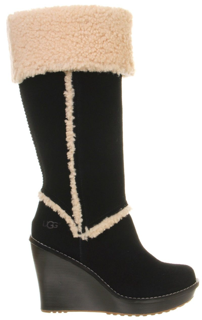 Office, Ugg Australia Aubrie Wedge Shearling Knee Boot | Wonderful Nails |  Pinterest | UGG australia, Knee boot and Wedges
