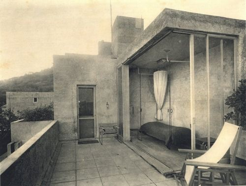 Villa Noailles, outside bedroom, Hyères, by Robert Mallet-Stevens, 1928