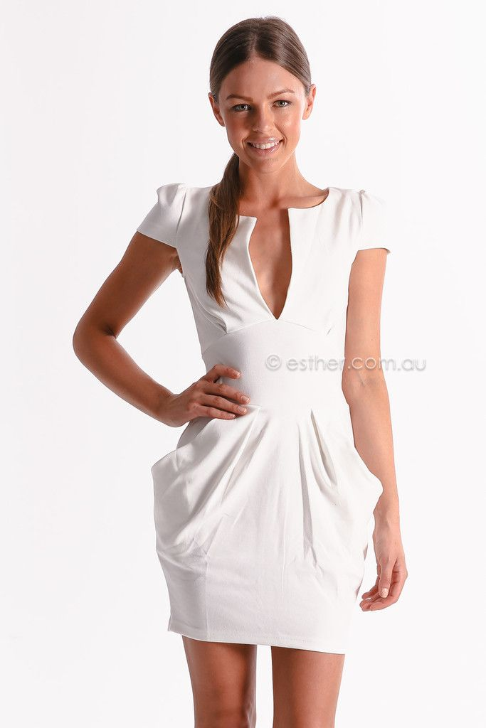 carrie cocktail dress - white