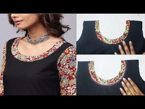 54eeea05e3b71c Very Beautiful Kurti Neck design (easy Method) cutting and stitching in  hindi/ Office wear - YouTube