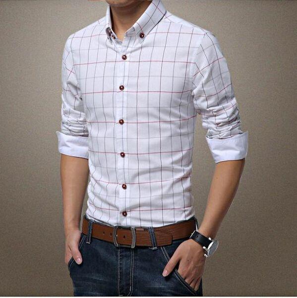 Cheap 2015 nuevos hombres camisa casual hombre de manga larga de algodón  Collar del mandarín otoño Casual Outwear e6f2691f64b48