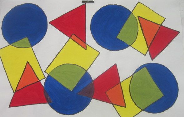 You Could Also Colour The Overlapping Part Of Shapes With Their Respective Secondary Colors