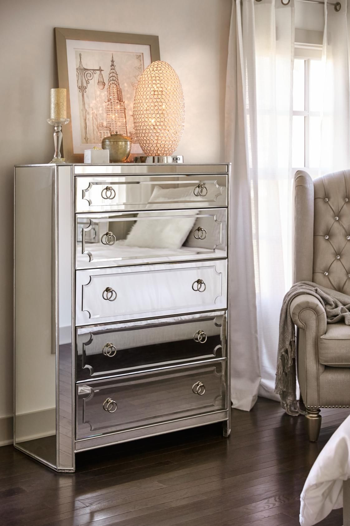 Get The Glam Lifestyle You Ve Always Dreamed Of With Our Stunning Shiny Harlow Ch Mirrored Bedroom Furniture Mirrored Dresser Bedroom Luxury Bedroom Furniture