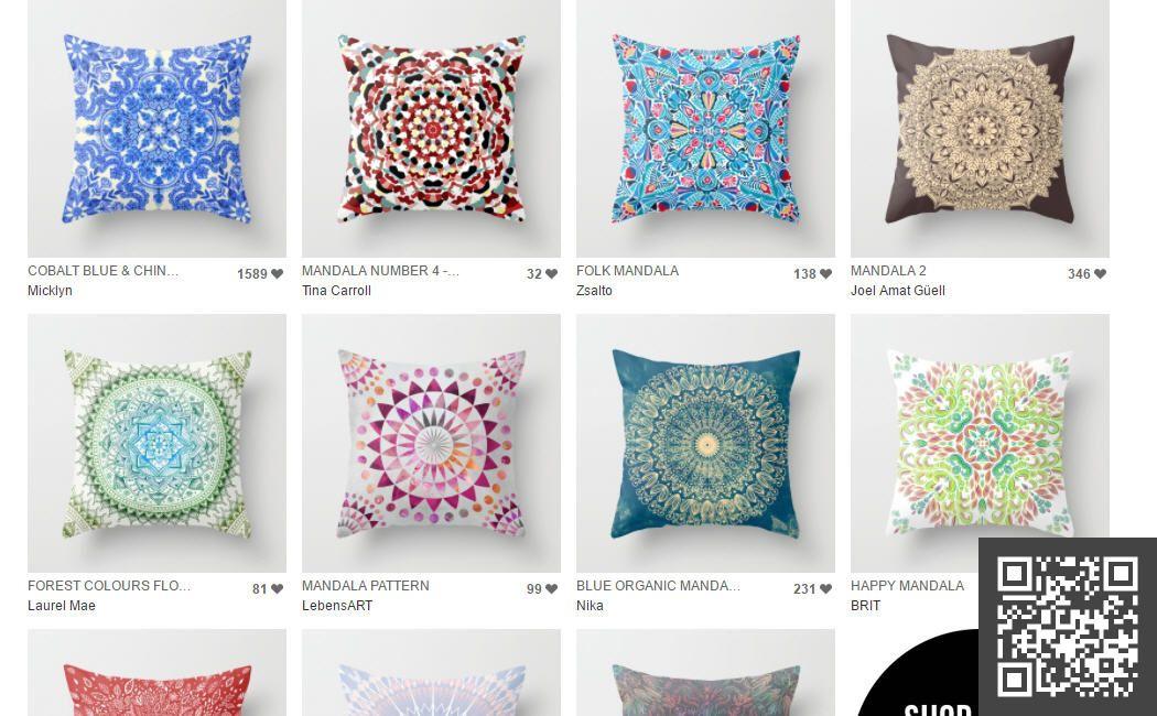 Mandalas | Society6 CLICK: https://goo.gl/tiGAXL #deco #home #interiordesign  pillows homeware art kunst