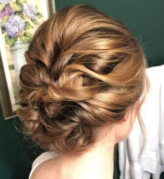 Curly Hair Updos for Bridesmaids | Messy Updo Hairstyles for Curly ...