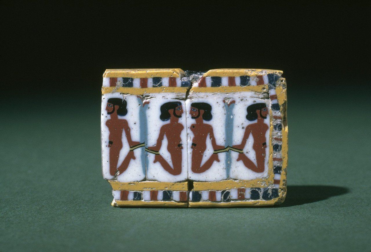 ~ Inlay Plaque.  Place of origin: Egypt, probably Alexandria  Date: 99 B.C.- A.D. 99