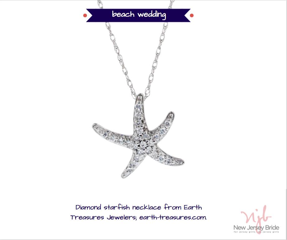 Starfish bridesmaid wedding gift for beach wedding from Earth Treasures in Eatontown, NJ.