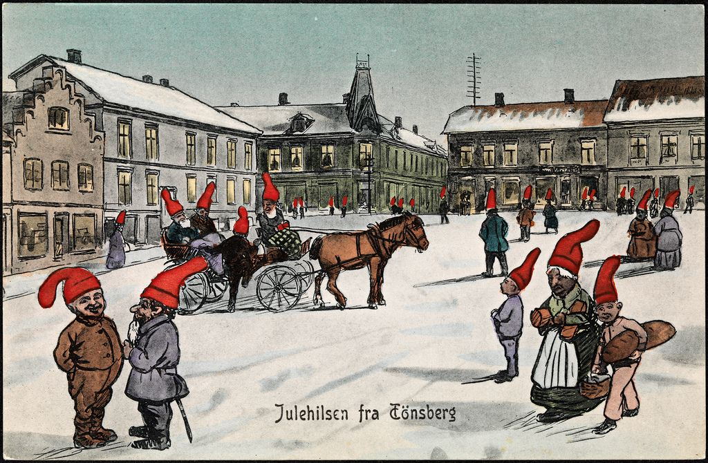 https://flic.kr/p/aMDw6a | Julehilsen fra Tönsberg, 1908 | Motiv / Motif: Postkort / julekort.  Dato / Date: 1908  Kunstner / Artist: ukjent / unknown  Utgiver / Publisher: Fredrik Winsnes  Sted / Place: Vestfold, Tønsberg  Eier / Owner Institution: Nasjonalbiblioteket / National Library of Norway  Lenke / Link: www.nb.no  Bildesignatur / Image Number: blds_04548