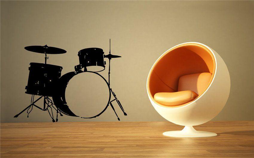 Wall Vinyl Sticker Decals Art Mural Music Drums B134. $29.99, via ...