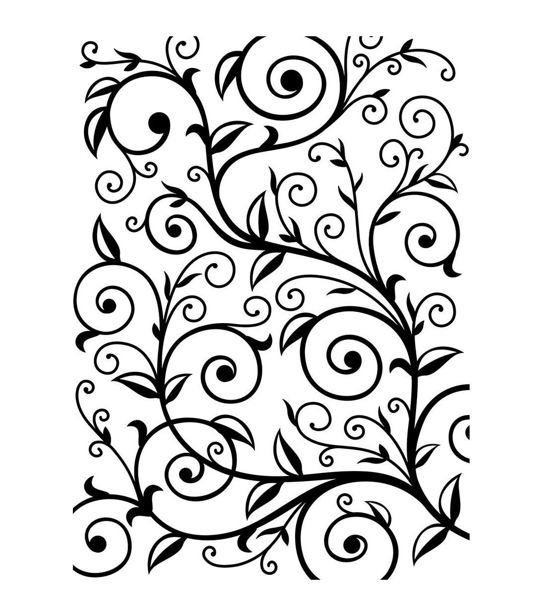 Darice vine embossing folder leaf background embossing