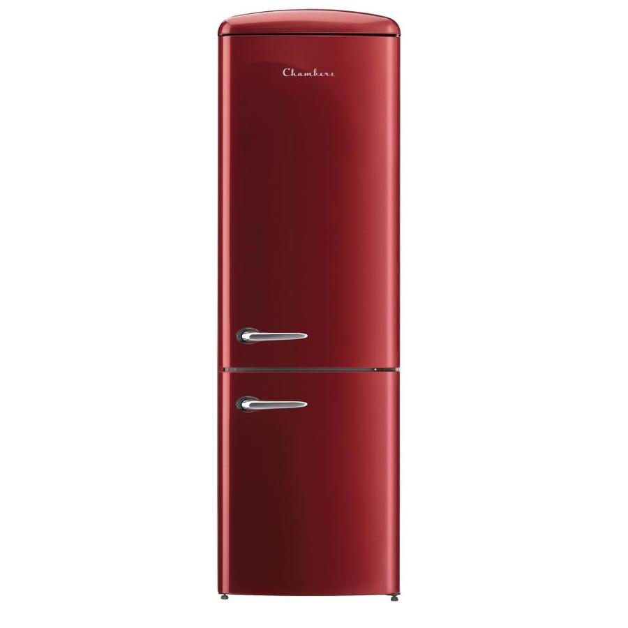 Chambers Retro Refrigerators 12 Cu Ft Bottom Freezer Refrigerator Bordeaux Red Energy Star At L Retro Refrigerator Bottom Freezer Refrigerator Bottom Freezer