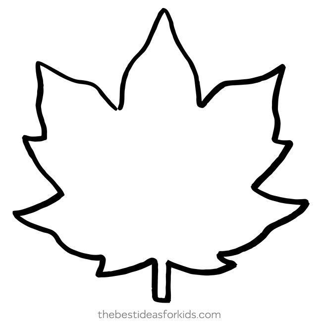 leaf template  the best ideas for kids  fall leaf