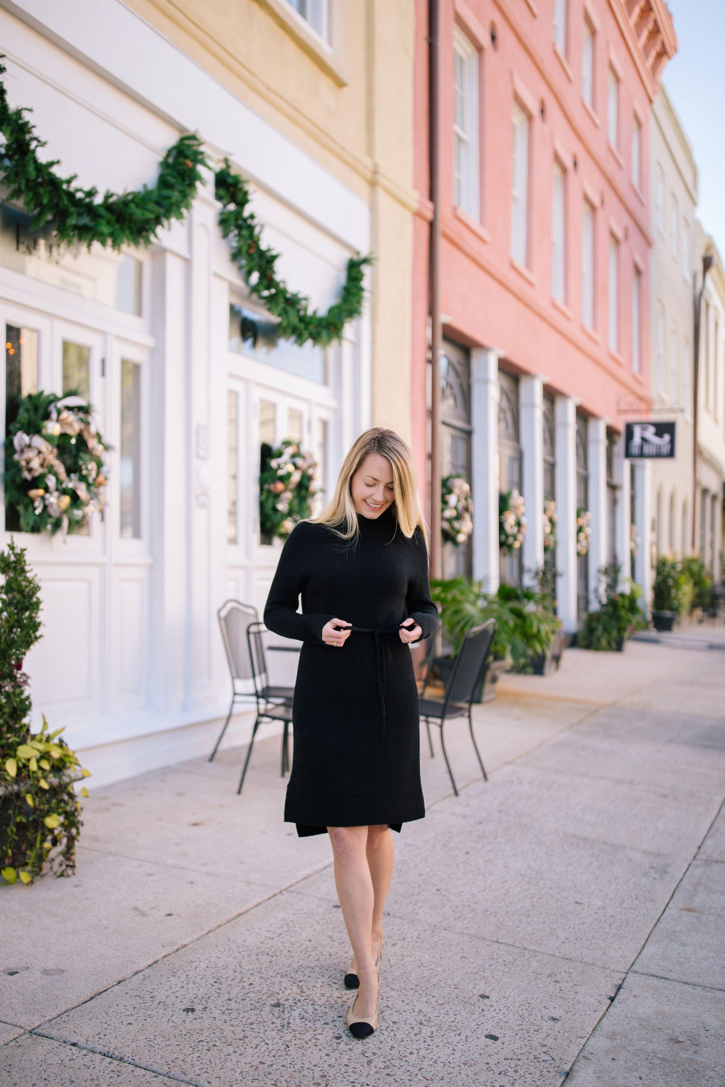 750e7fd8328 Warm little black dresses to wear this winter