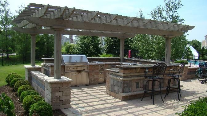 Pergola outdoor kitchen   Pergolas  Italian 1675  A pergola     Pergola outdoor kitchen   Pergolas  Italian 1675  A pergola structure  usually consisting of