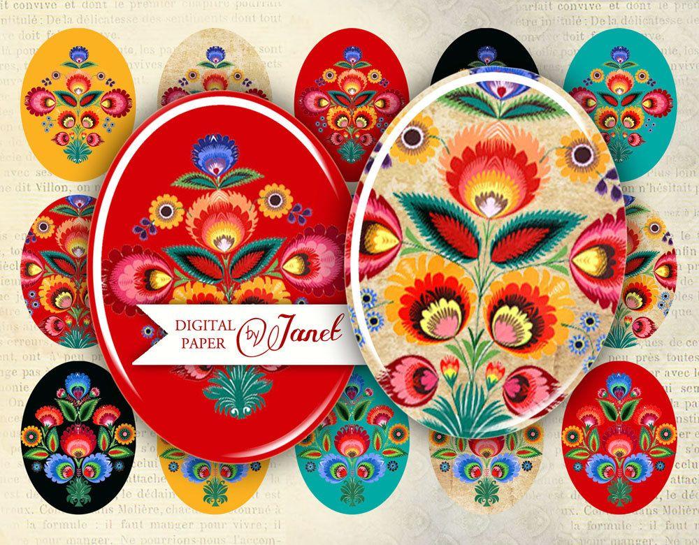 Polish Moods oval image 30 x 40 mm or 18 x 25 by bydigitalpaper