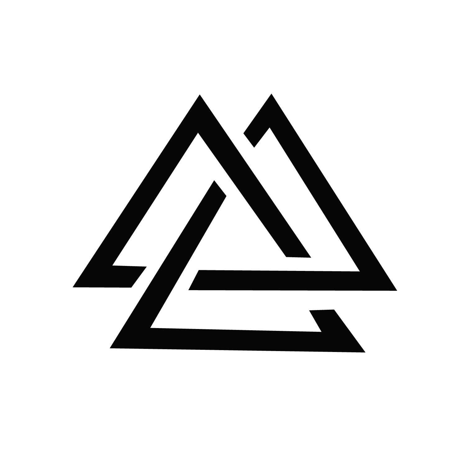 Triple Triangle  Minimal Temporary Tattoo   Ink Daze is part of Minimal tattoo design -
