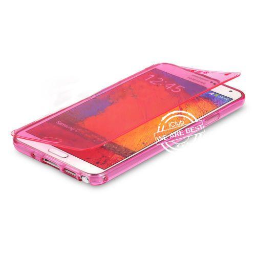 Flip tpu soft silicon hot pink gel case for Samsung Galaxy S3