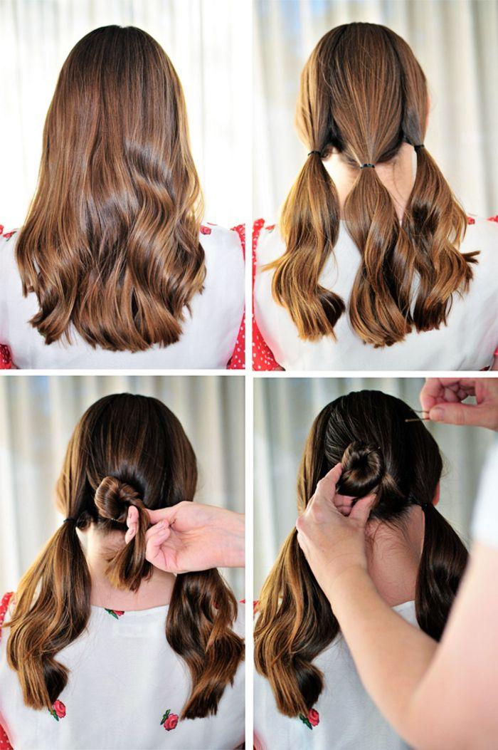 1001+ idées comment faire un chignon facile pour toutes occasions | Easy bun hairstyles, Bun ...