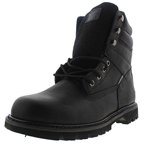 KINGSHOW Mens 1312 7 Premium FullGrain Leather Plain Rubber Sole Soft Toe  Work Boots >>