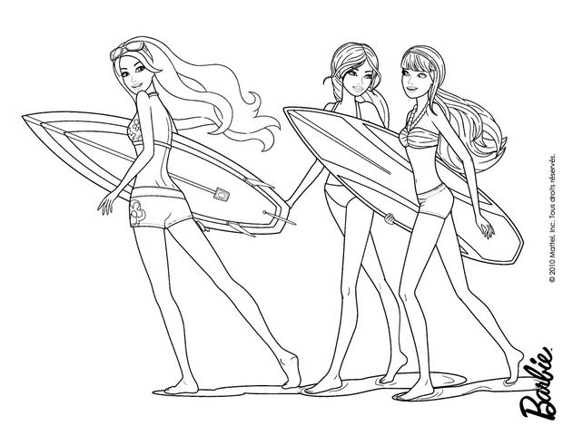 barbie mermaid coloring pages - Barbie Mermaid Coloring Pages
