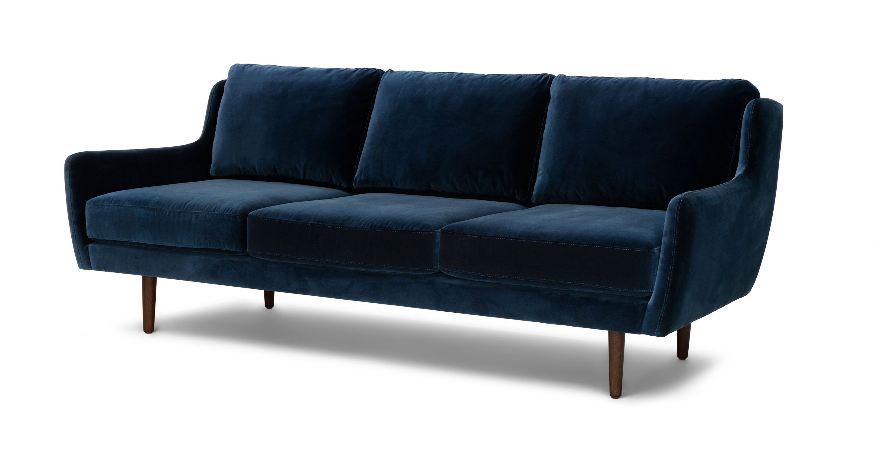 Modern Furniture Upholstery blue velvet contemporary sofa | matrix contemporary furniture