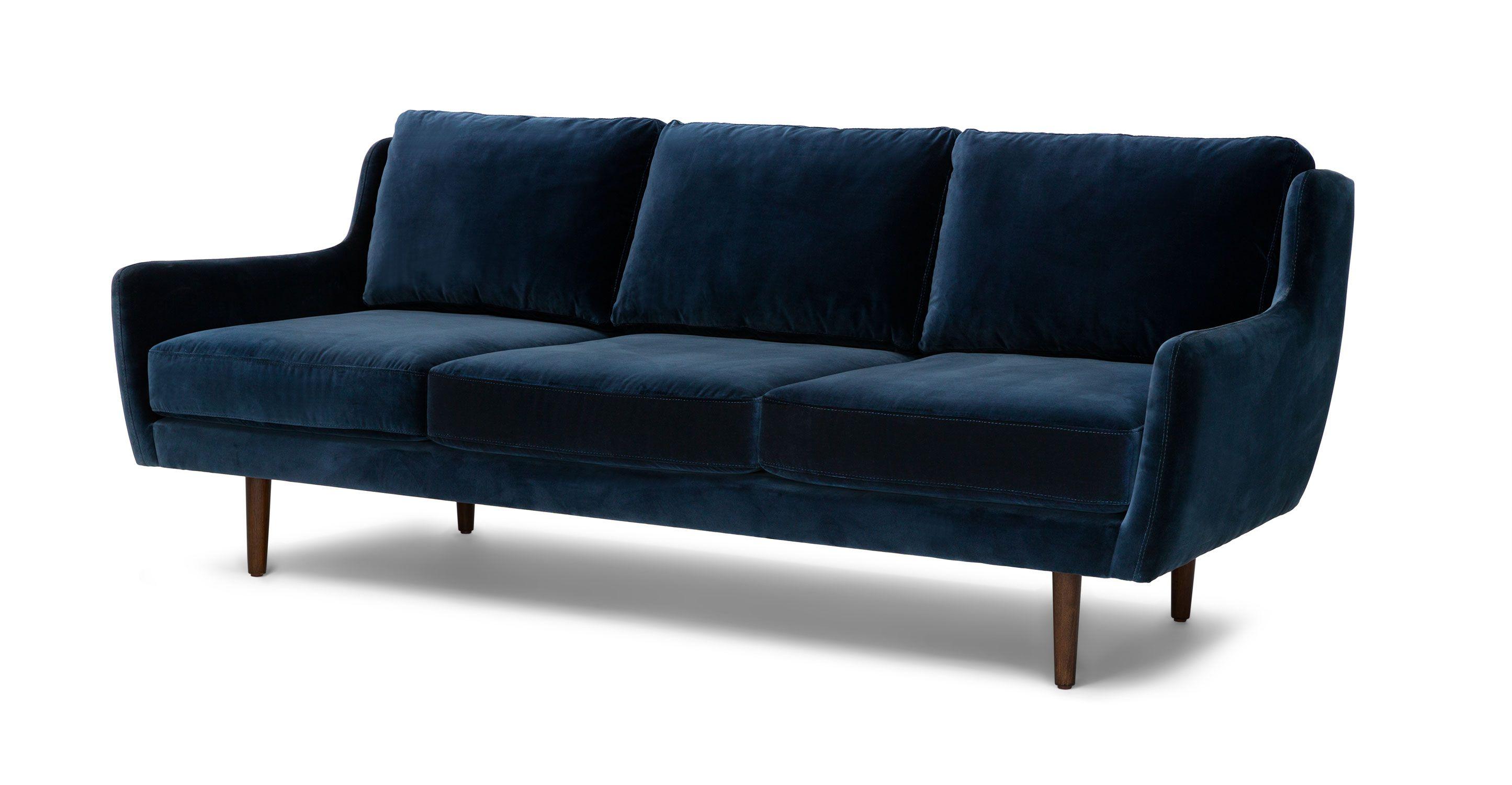 Modern Furniture Upholstery blue velvet contemporary sofa | matrix contemporary furniture