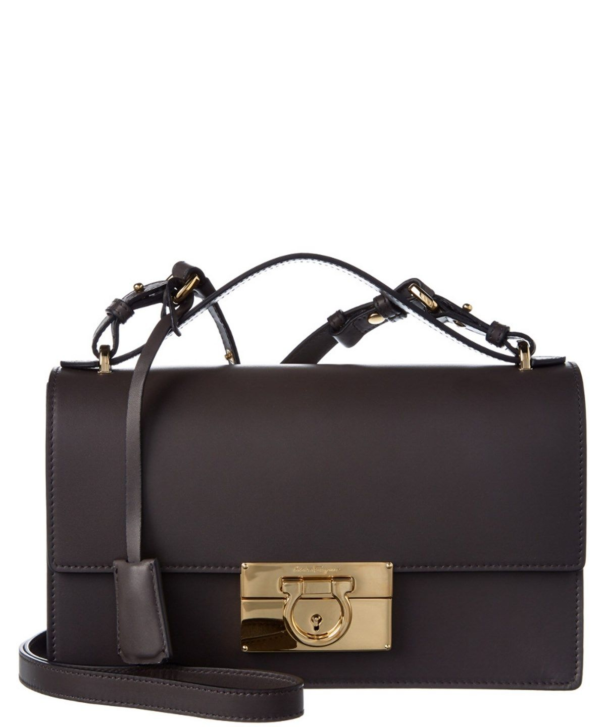 28335acd16 SALVATORE FERRAGAMO Salvatore Ferragamo Aileen Gancio Lock Leather Shoulder  Bag .  salvatoreferragamo  bags  shoulder bags  hand bags  leather  lining
