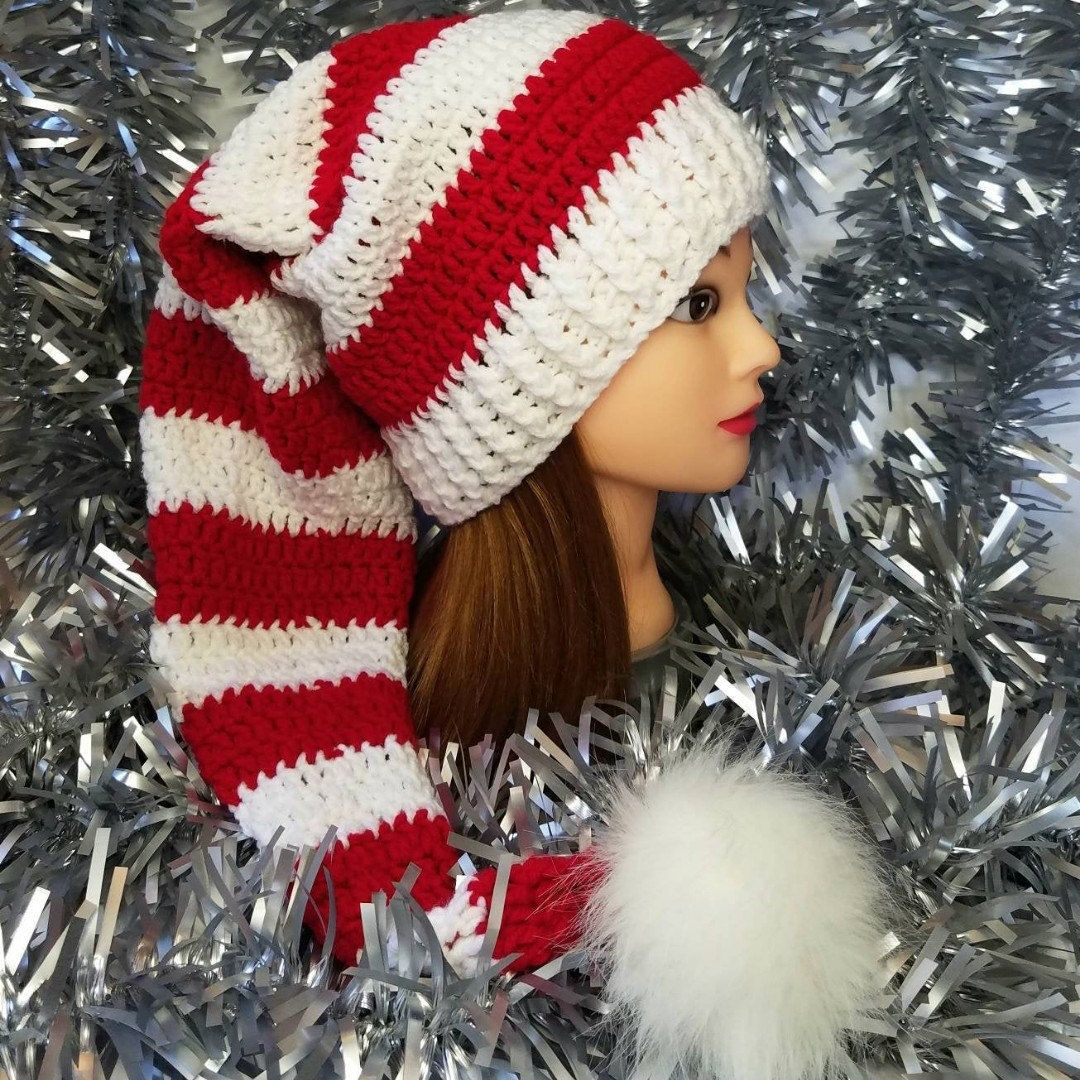 Crochet Elf Hat - Fits 6 years-Adult Large (21