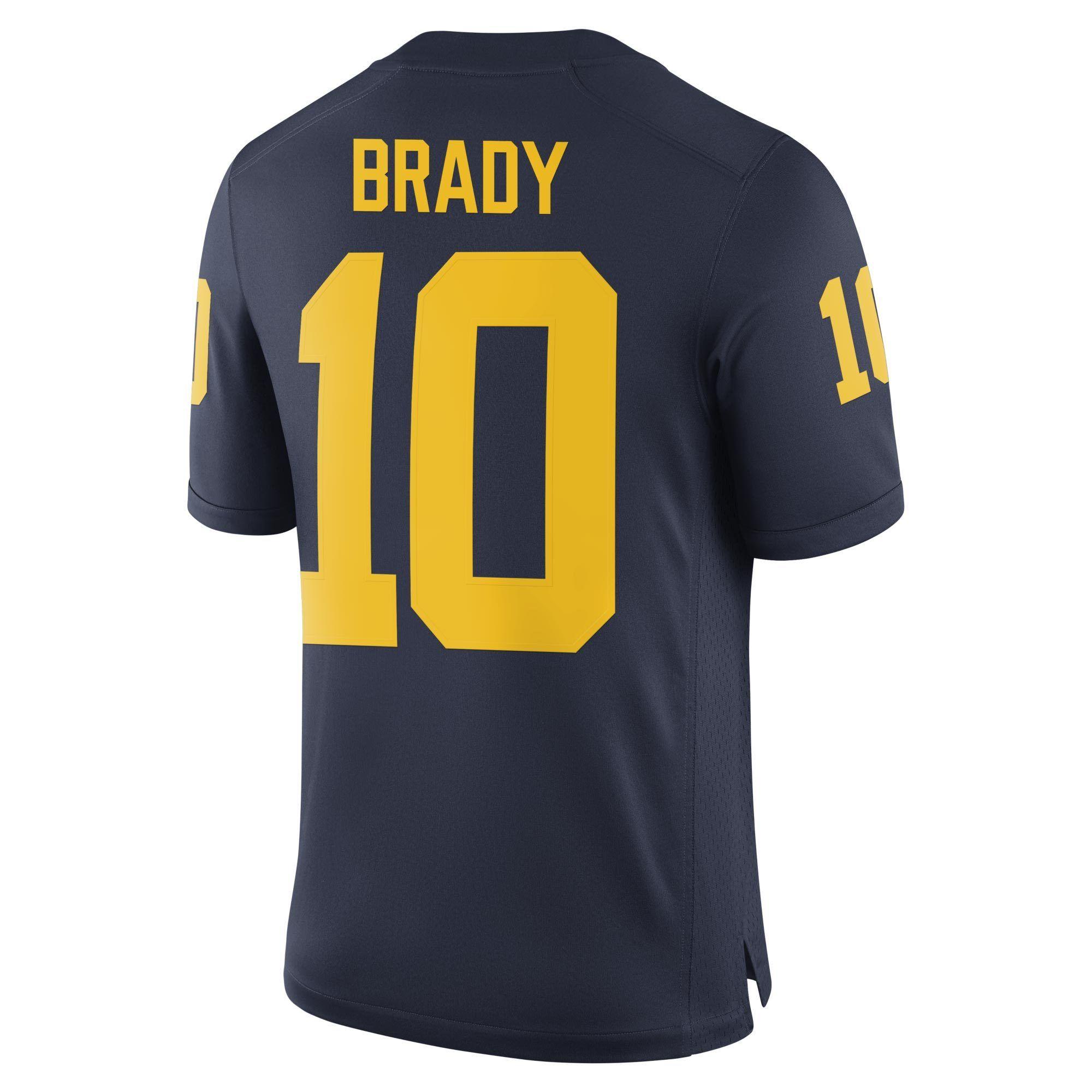 77220432cf0 Michigan Wolverines Tom Brady Alumni Football Jersey Brand Jordan ...