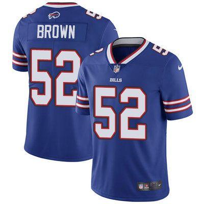Nike Bills  52 Preston Brown Royal Blue Team Color Men s Stitched NFL Vapor  Untouchable Limited b29ff4135b3