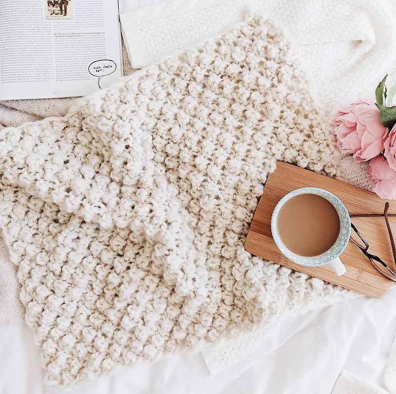 Raspberry dream baby blanket by darn good yarn free