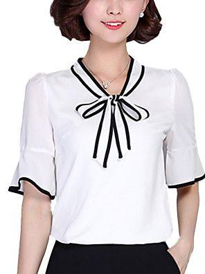 d35e28ed59 Mulheres Blusa Casual Plus Sizes   Moda de Rua Verão