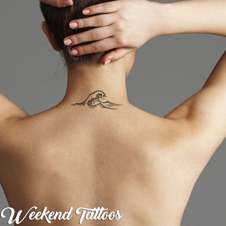 Tatodays® Hawaiian black simple tribal sea surfer wave turtles temporary tattoos men women temp tatoo fancy dress party  polynesian