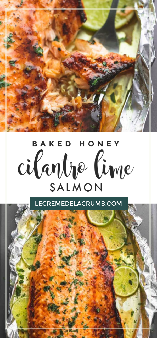 Baked Honey Cilantro Lime Salmon