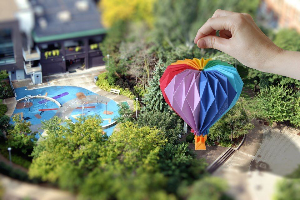 paper folding hot air balloon paper folding