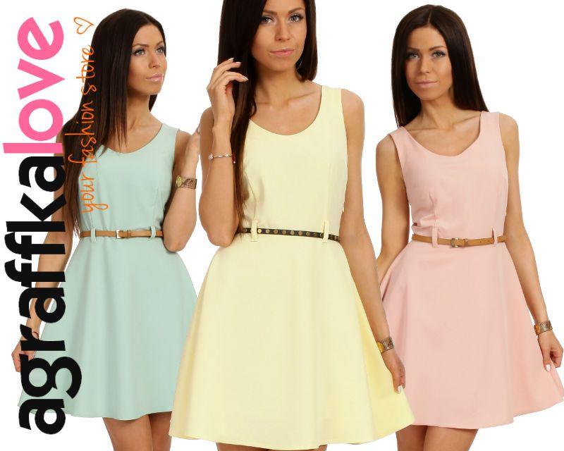 Rozkloszowana Sukienka Sukienki Lato Wesele 38 M 4358764134 Oficjalne Archiwum Allegro Fashion Dresses Graduation Dress